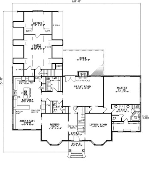 clyde park luxury georgian home plan   house plans