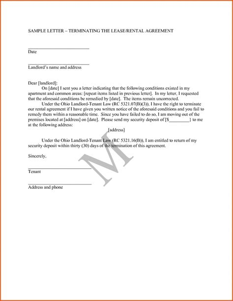 lease agreement letters letter of agreement samples template