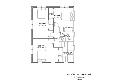 Cape Cod 2nd Floor Plans