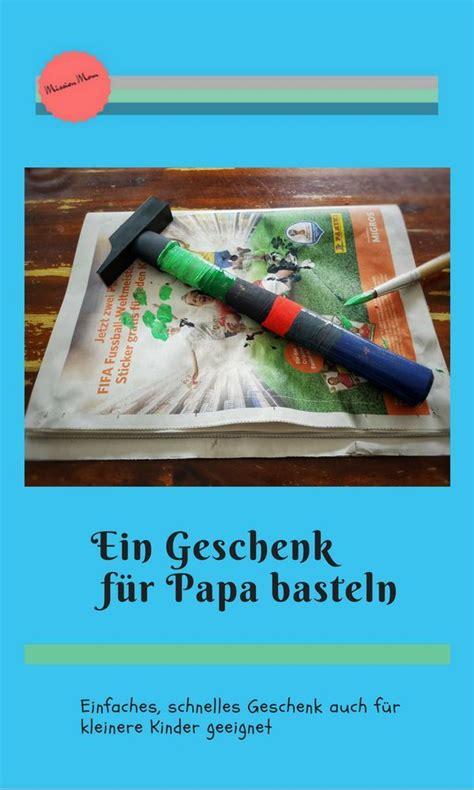 ein geschenk fuer papa basteln kreativ einfach und