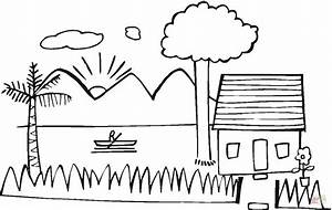 Summer House on the Lake coloring page | Free Printable ...