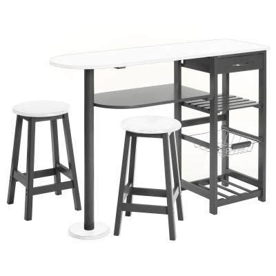 meuble de cuisine d appoint table d 39 appoint cuisine 2 tabourets achat vente