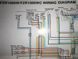 Yamaha Factory Color Wiring Diagram Schematic 1989 Fzr1000