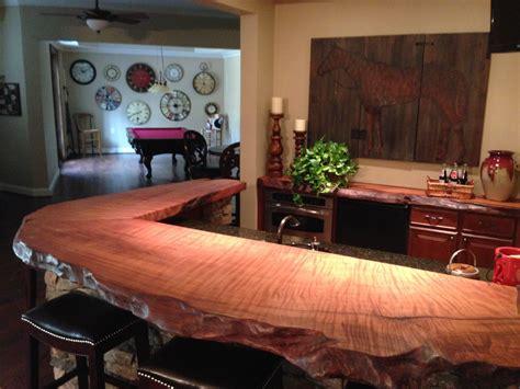 wood countertop handcrafted using a burl wood slab cut