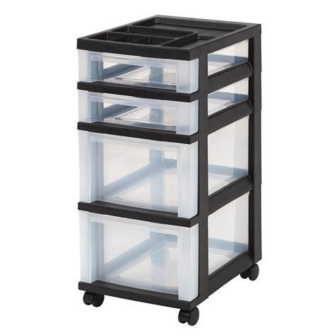 husky stackable storage bin in black 232387 the home depot