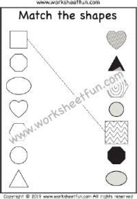preschool matching worksheets images worksheets
