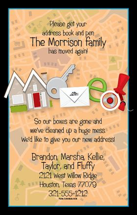 invitations  home moving grand opening invitations
