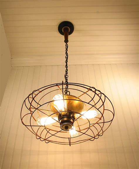 repurposed light fixtures implausible industrial ceiling