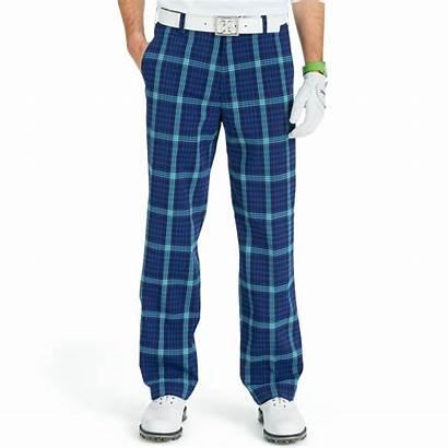 Golf Pants Plaid Izod Performance Lyst Midnight
