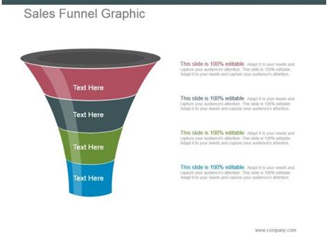 style layered funnel  piece powerpoint