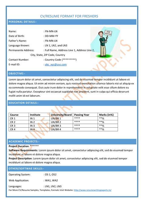 curriculum vitae format  cv formats cv formats