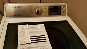 How-to Return Samsung Top Load Washing Machine