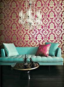 Barock tapete stil aus alten zeiten in zeitgenossischer form for Balkon teppich mit tapeten und stoffe passend