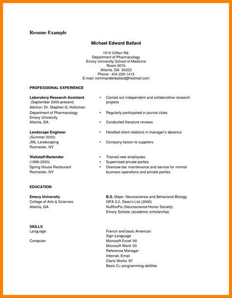 Curriculum Vitae Format Exle by 8 Curriculum Vitae Exles Pdf Theorynpractice