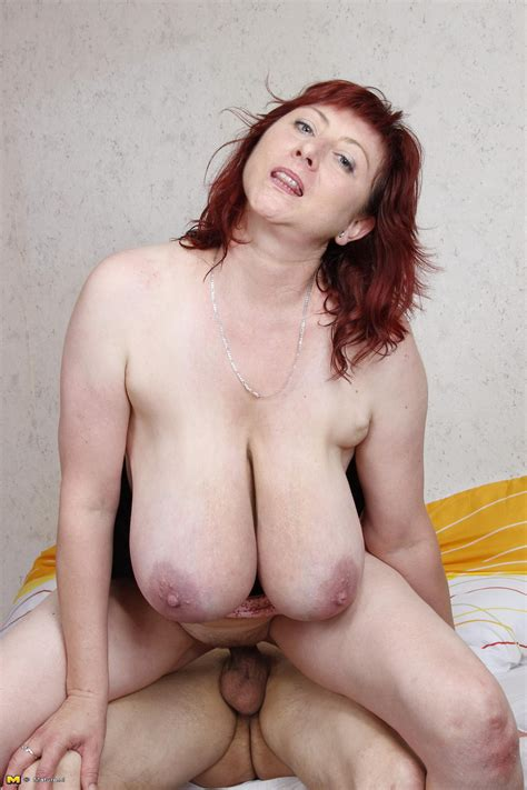 Mature With Huge Saggy Tits Having Sex With Younger Stud