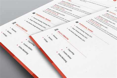 professional resume template word flat 50 use