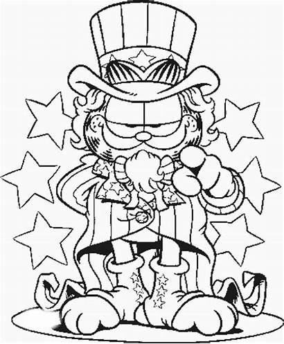 Uncle Coloring Sam Garfield Pages Netart Printable