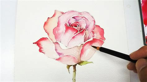 how to paint a l lvl4 rose painting tutorial youtube