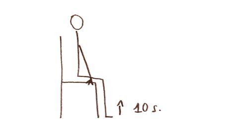 exercice chaise top des exercices physiques à faire au bureau