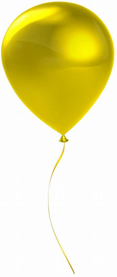Single Balloon Transparent Clip Clipart Balloons Yrllow