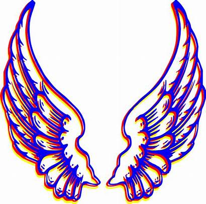 Wings Angel Clipart Colored Wing Vector Clip