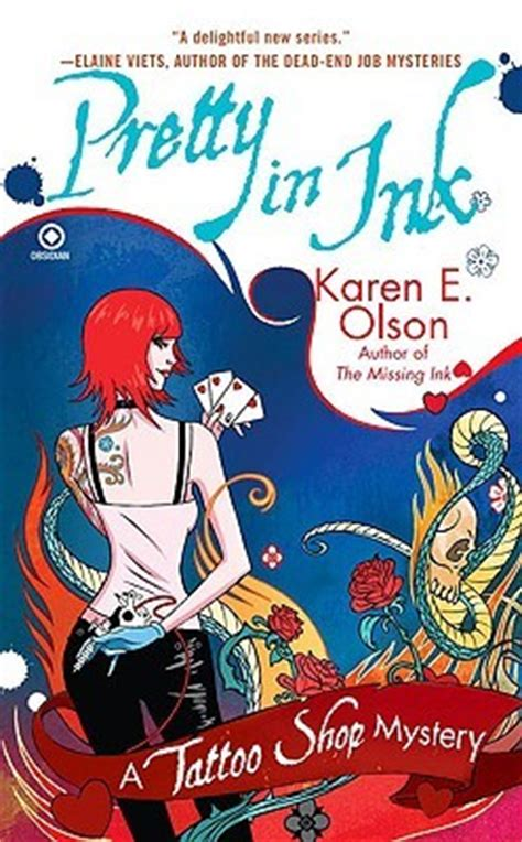 pretty  ink tattoo shop mystery   karen  olson reviews discussion bookclubs lists