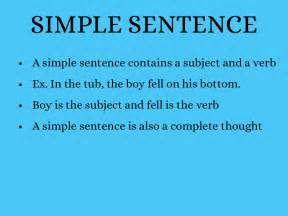 what is a simple sentence www pixshark images