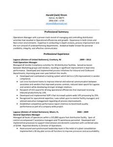 Sle Of Warehouse Manager Resume by Resume Distribution Sales Distribution Lewesmr