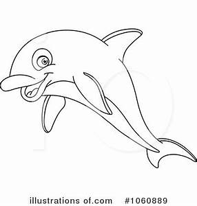 Dolphin Black And White Clipart - Clipart Suggest