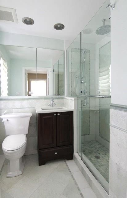 Small Master Bathroom Design by Evanston Small Master Traditional Bathroom Chicago
