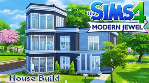sims  house build modern jewel family home youtube