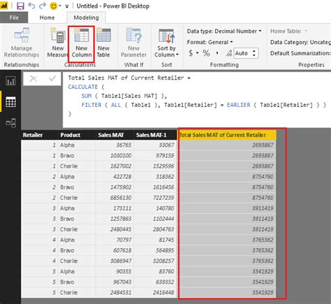 solved dax formula  calculating  indices insi