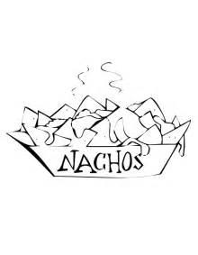 Nachos Coloring Pages