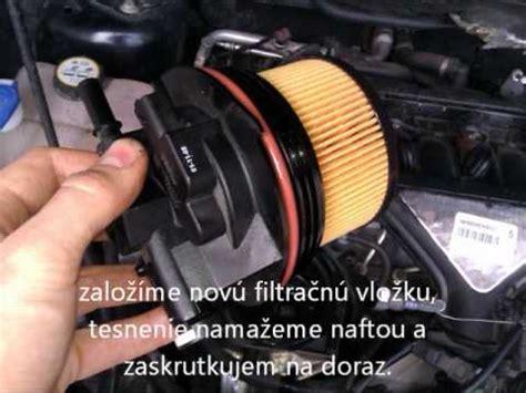 l verwisselen ford ka v 253 mena palivov 233 ho filtra ford kuga 2 0 duratorq fuel