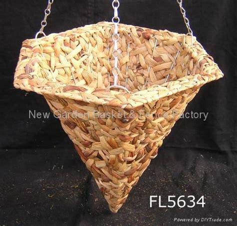 cone hanging basket rattan basket hanging flower basket hanging planter china manufacturer