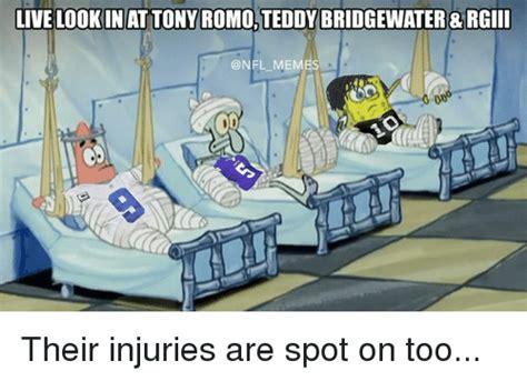 Teddy Bridgewater Memes - live lookin attony romo teddy bridgewater rgiii me their injuries are spot on too nfl meme on