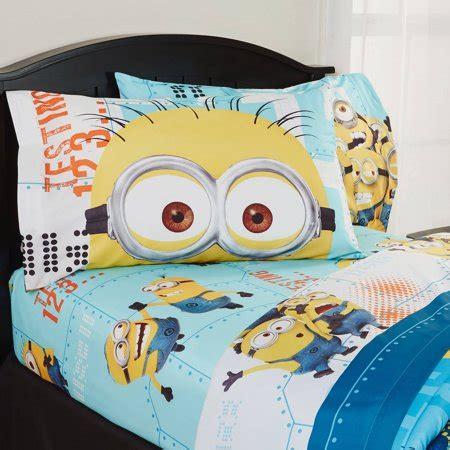 minion sheet set despicable me minions bedding sheet set walmart com