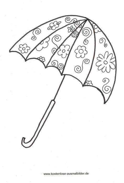 malvorlagen ausmalbilder regenschirm malvorlagen