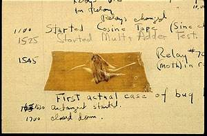 myoldmac.net - The first Computer Bug... It was a moth...
