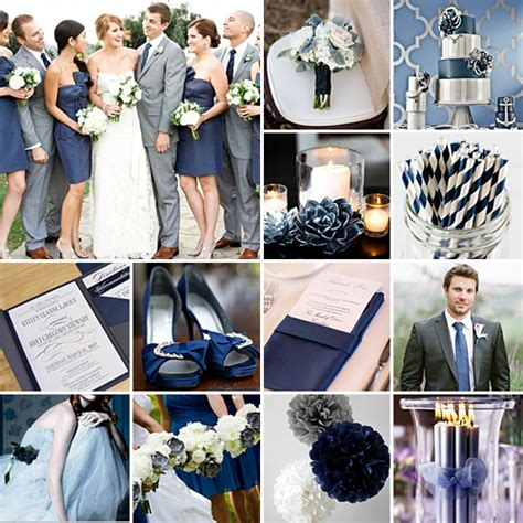 navy  grey weddings