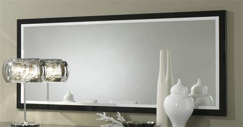 miroir rectangulaire de salle 224 manger design 140 cm laqu 233 blanc et noir krista miroir
