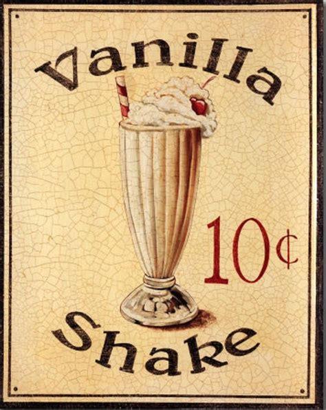 cuisines vintage vanilla shake vintage sign vintage signs