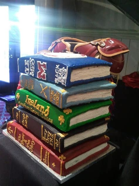 stacked book cake cakecentralcom