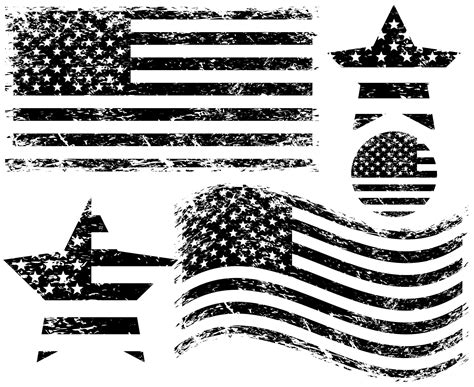 Download free american flag png with transparent background. Black And White American Flag Vector Image