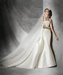 tasiala mikado silk mermaid pronovias dress tasiala With mikado silk wedding dress