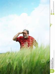 Man Searching In Distance Royalty Free Stock Image - Image ...