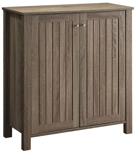 white accent cabinets with doors weathered grey door shoe cabinet from coaster 950551