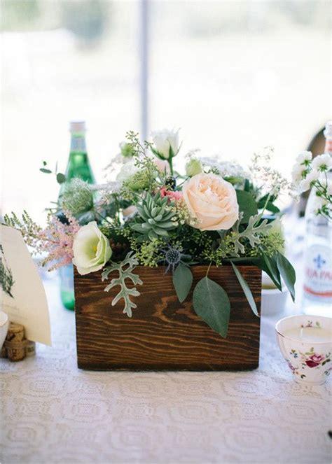 ideas  flower box centerpiece  pinterest