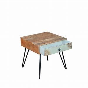 Table De Chevet Bois : table de chevet vintage en bois fusion by drawer ~ Teatrodelosmanantiales.com Idées de Décoration