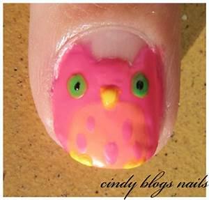 cindy blogs nails Nail Art Owl Tutorial